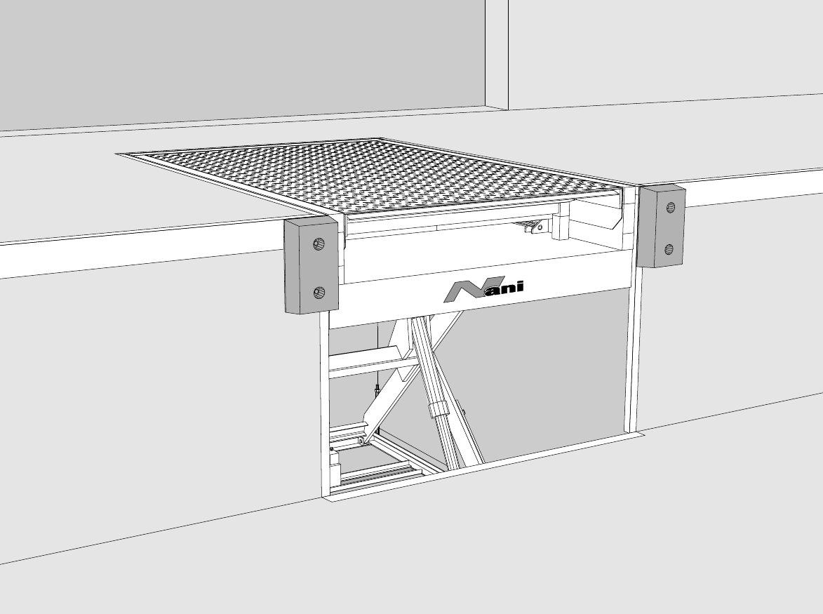Konstruktionszeichung – Hubtisch zur Verladung