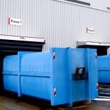 Modernisierung der Containerlogistik – nachher, mit Torabdichtungen