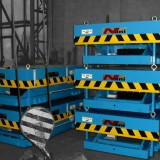 heavy load lift table HT80 [= 8000kg] blue lacquered