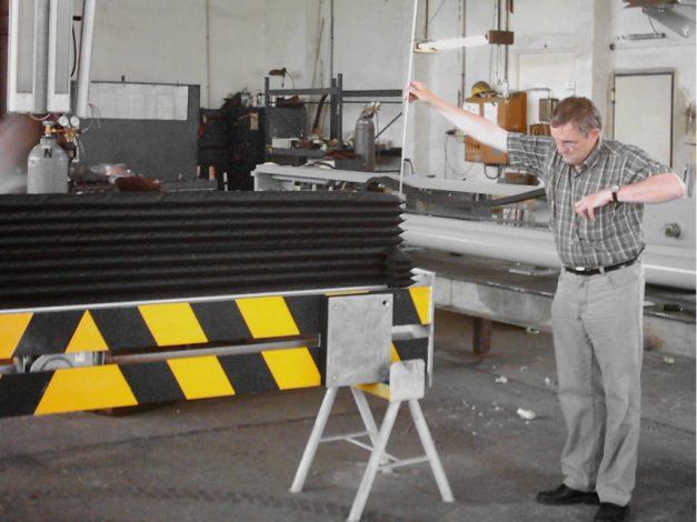 Endmontage und Test eines unteren Luftsacks