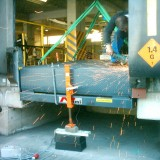 welding work on hydraulic, with hinged lip (KBH)