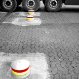Bollards in concrete