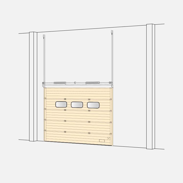 Sektionaltore – Beschlag mit vertikaler Laufschiene (VL)