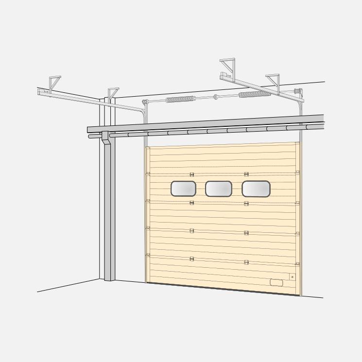 Sektionaltore – Höhergeführter Beschlag (HL)