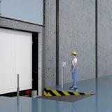5. Employee opens gate